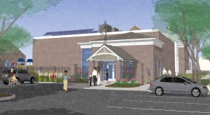 artist's rendering of the proposed look of the Delaware Avenue entrance