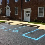 photo of spaces for handicapped parking