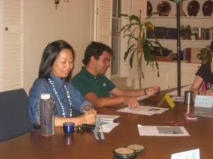photo of English conversation program participants meeting