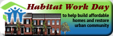 banner for Habitat for Humanity of New Castle County work day