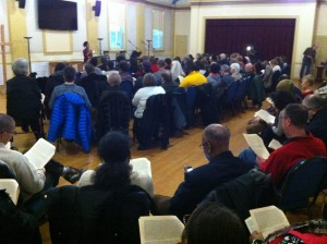 photo of a packed Heritage Hall during MLK Jr. day event