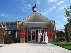 photo of Welcome Center from dedication on Pentecost 2017