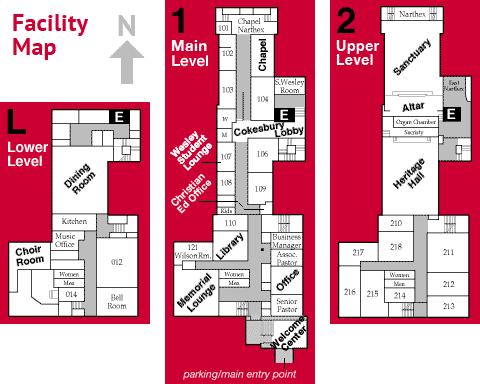 diagram of facility floor plans